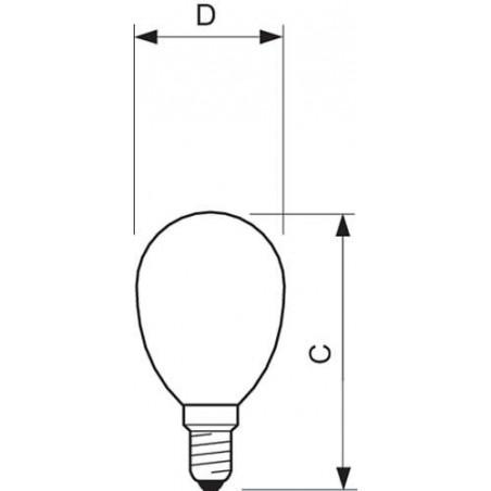 PHILIPS - CLA LEDLUSTER ND 2.3-25W E14 WW P45 CL