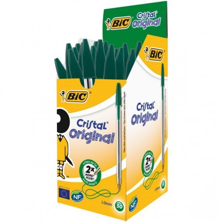 Bic - 50 Stylos-billes Cristal - Vert