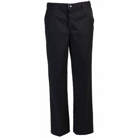 Robur - Pantalon de cuisine mixte Timeo - Taille 48 - Noir