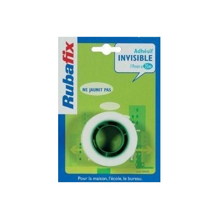 RUBAFLIX - RECHARGE ROULEAU ADHESIF INVISIBLE 19MMX25M