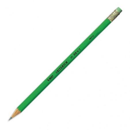 Bic - Crayon critérium graphite 255 - Embout gomme - Hb