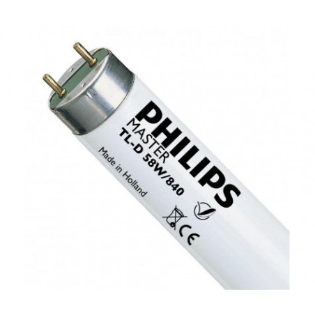 Philips - Tube halogène Master TL-D Super 80 - 58 W - 840 - T8
